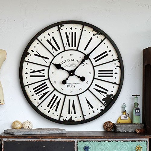 XiaoGao LOFT industriale vento villaggio vintage ferro battuto tondo orologio da parete