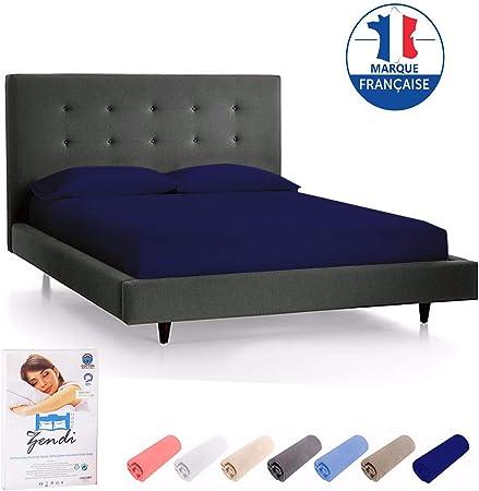 Sábana bajera para colchón, 100 % algodón, 200 g/m², gruesa, muy suave y resistente, 90