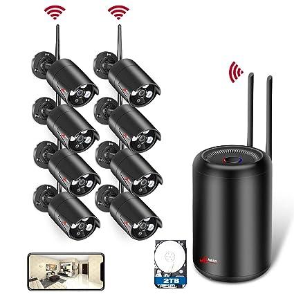 Kit Cámaras de Vigilancia WiFi para el Hogar, ANRAN 1080P Sistema de Videovigilancia 8CH Sistema