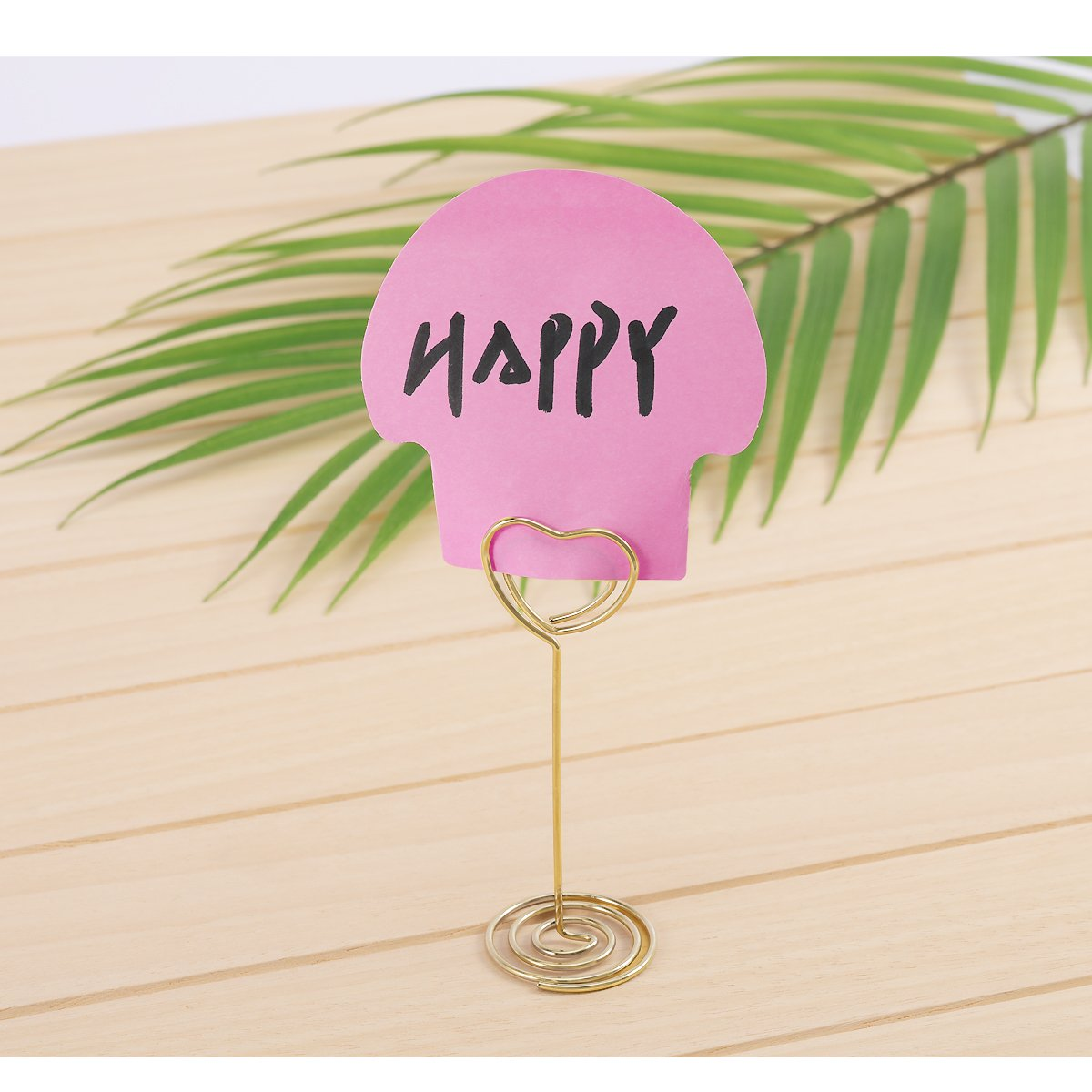 Table Photo Holder - Aieve 24 Pack Love Heart Shape Table Number Holders Place Card Holders Menu Clips Holders Stand for Wedding Party Gatherings Office Desk Memo Menu Table Photo Clips(Gold) by Aieve (Image #6)