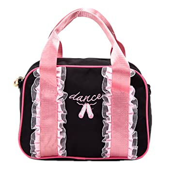 Amazon.com  Little girls  Dance Duffel Bag Kids Sport Gym Bag (Black ...