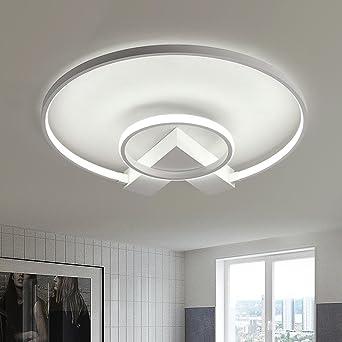 Led Lampen Design | Henley Led Deckenleuchte Modern 38w Led Lampen Zwei Ring