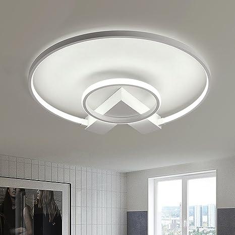 LED Design Deckenlampe Wohnzimmer Deckenleuchte modern Acrylweiß 28 Watt