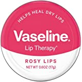 Vaseline Lip Therapy Lip Balm, Rosy Lips 0.6 oz (Pack of 3)