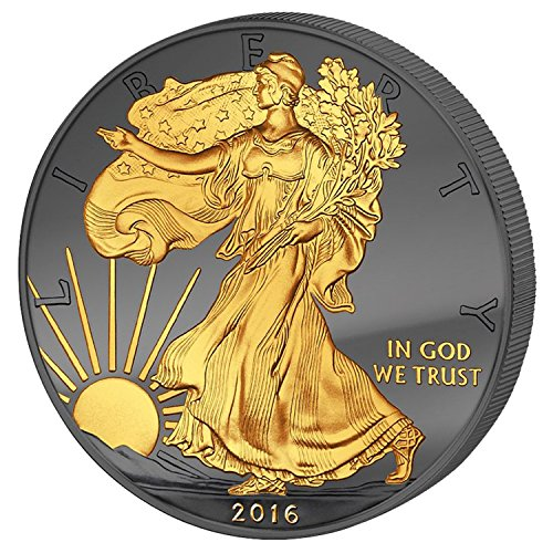 2016 American Eagle Walking Liberty GOLDEN ENIGMA Edition 1oz silver coin $1 Brilliant Uncirculated