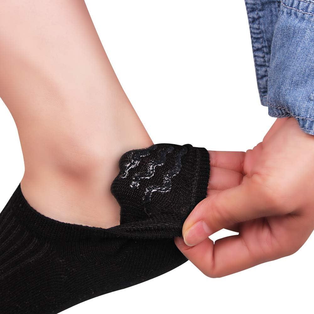 Ambielly Calcetines cortos para mujer Algod/ón No Show Corte bajo Casual Invisible Calcetines No Resbal/ón Plano Barco Transatl/ántico Tobillo Calcetines 10 pares