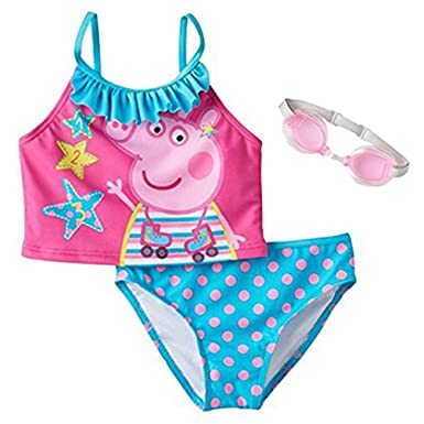 Peppa Pig Girlsu0027 Tankini Swimsuit ...  sc 1 st  Amazon.com : peppa pig swimming costumes  - Germanpascual.Com