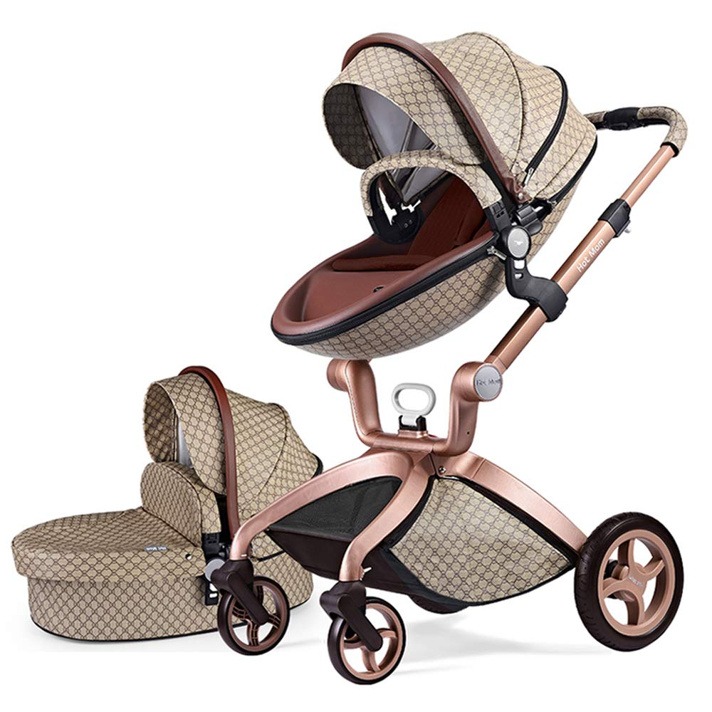 Hot Mom Baby Carriage with Four-Wheel Shock Absorption