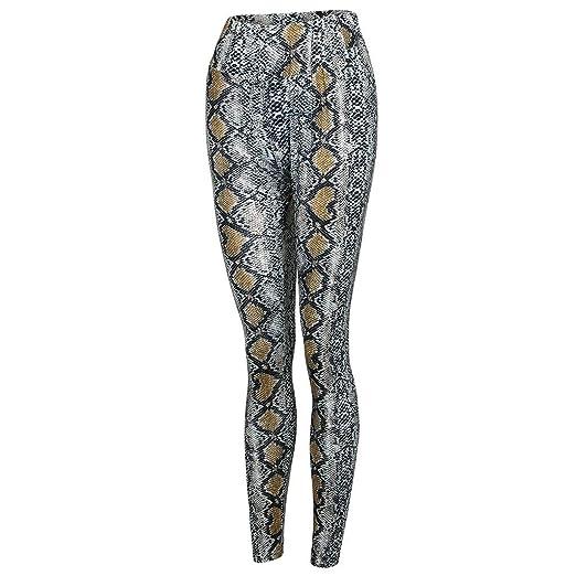 b59b17e99 Amazon.com  Pitauce Workout Pants for Women Sexy Yoga Leggings Sports Pant Leopard  Print Tummy Workout Running Sports Leggings  Clothing