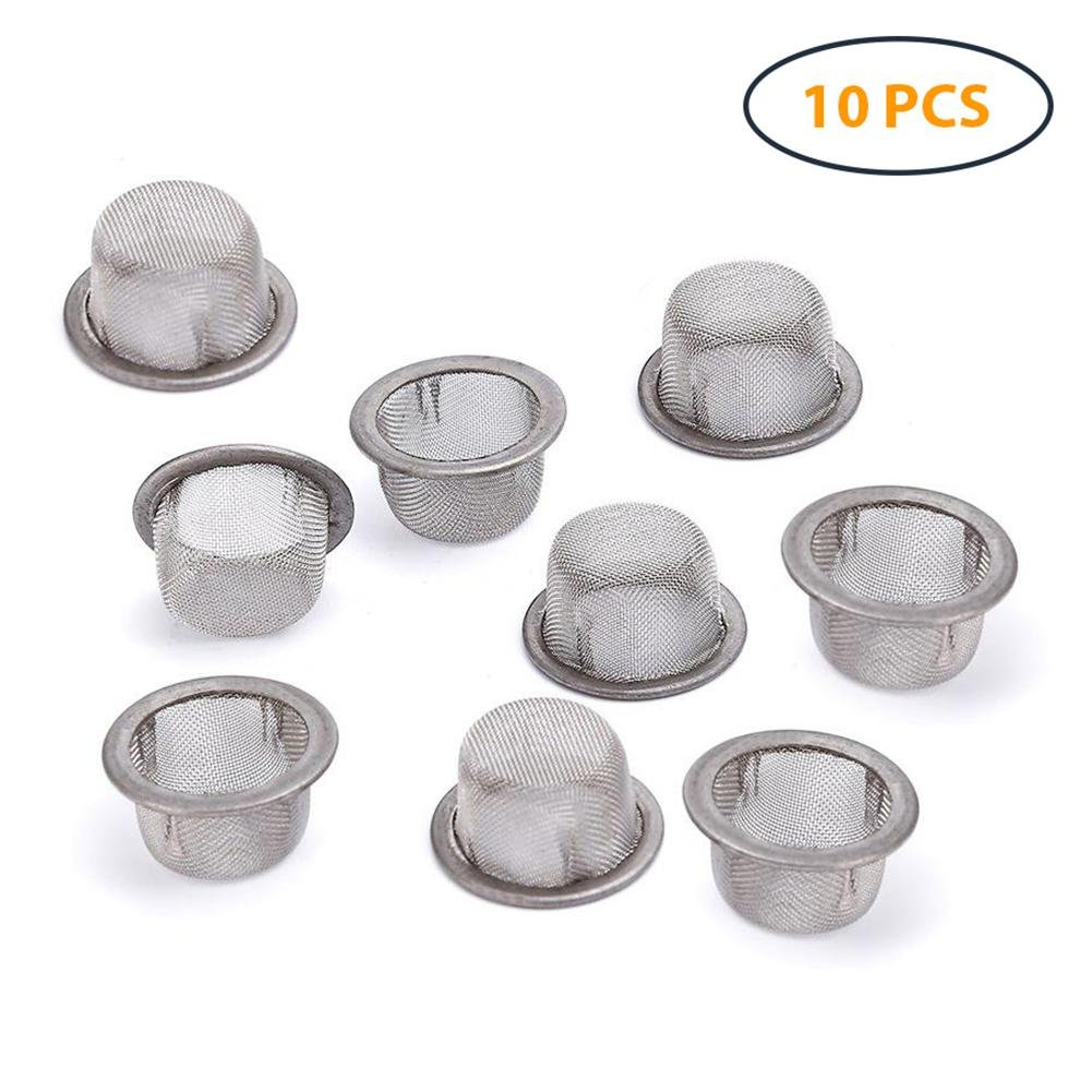 Set Of 5 bowls and 5 caps Tobacco Smoking Bowls and a pack of screens
