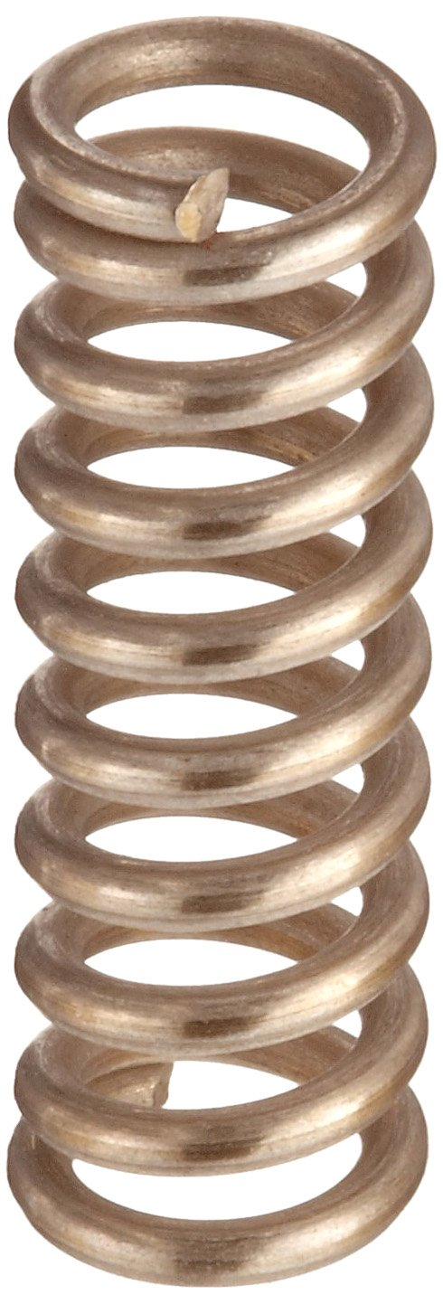 Compression Spring Stainless Steel Metric 4.8 mm OD 0.8 mm Wire Size 7.01 mm Compressed Length 9.7 mm Free Length 26.56 N Load Capacity 9.89 N mm Spring Rate Pack of 10