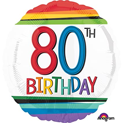 Amscan International 3443901 cumpleaños 80 Globo de lámina ...