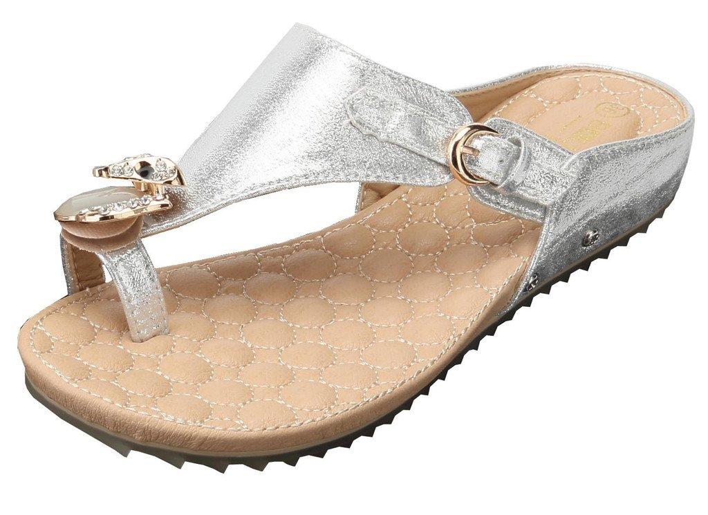AgeeMi 19964 Shoes Femmes Sandales Plat B072SWLCB9 Flip Flops Décorations Diamant Artificiel Artificiel Argent (EuL10) a6b7c2a - epictionpvp.space