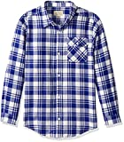 Lucky Brand Boys' Long Sleeve Plaid Button Down Shirt