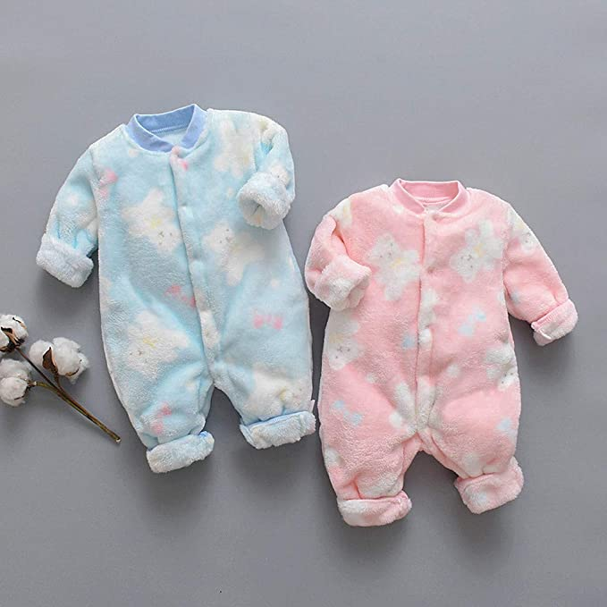 WARMWORD Baby Rompers Cotton Onesies Boys Girls Long Sleeve Sleepsuit Overalls Cartoon Outfits for Toddler Infant