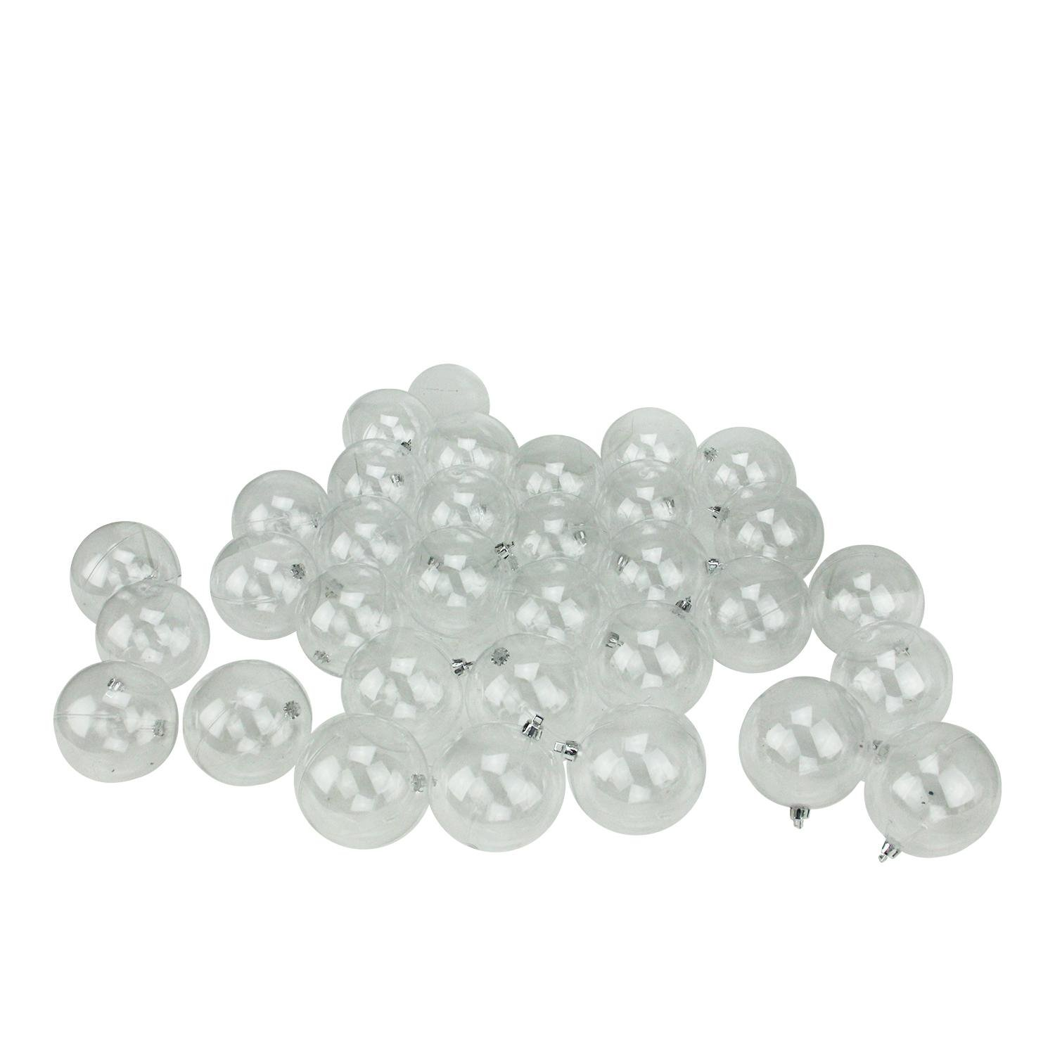 32ct Clear Shatterproof Christmas Ball Ornaments 3.25'' (80mm)