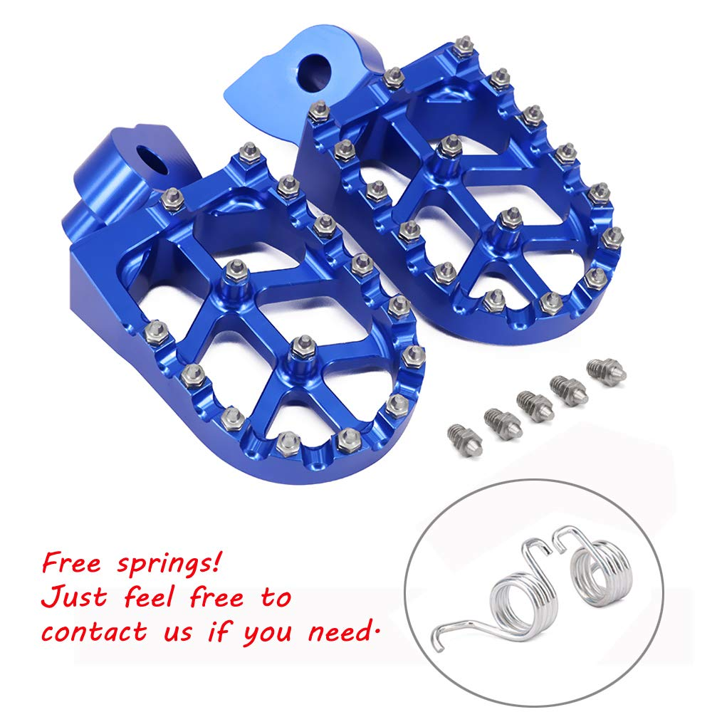 JFGRACING CNC Foot Pegs Rest Pedal Footpegs - Yamaha YZ85 02-18 YZ125/250 99-18 YZ250F 01-18 YZ426F 00-02 YZ450F 03-18 YZ125X 17-18 YZ250X 16-18 YZ250FX 15-18 YZ450FX 16-18 WR250F WR400F WR426F WR450F JFG RACING