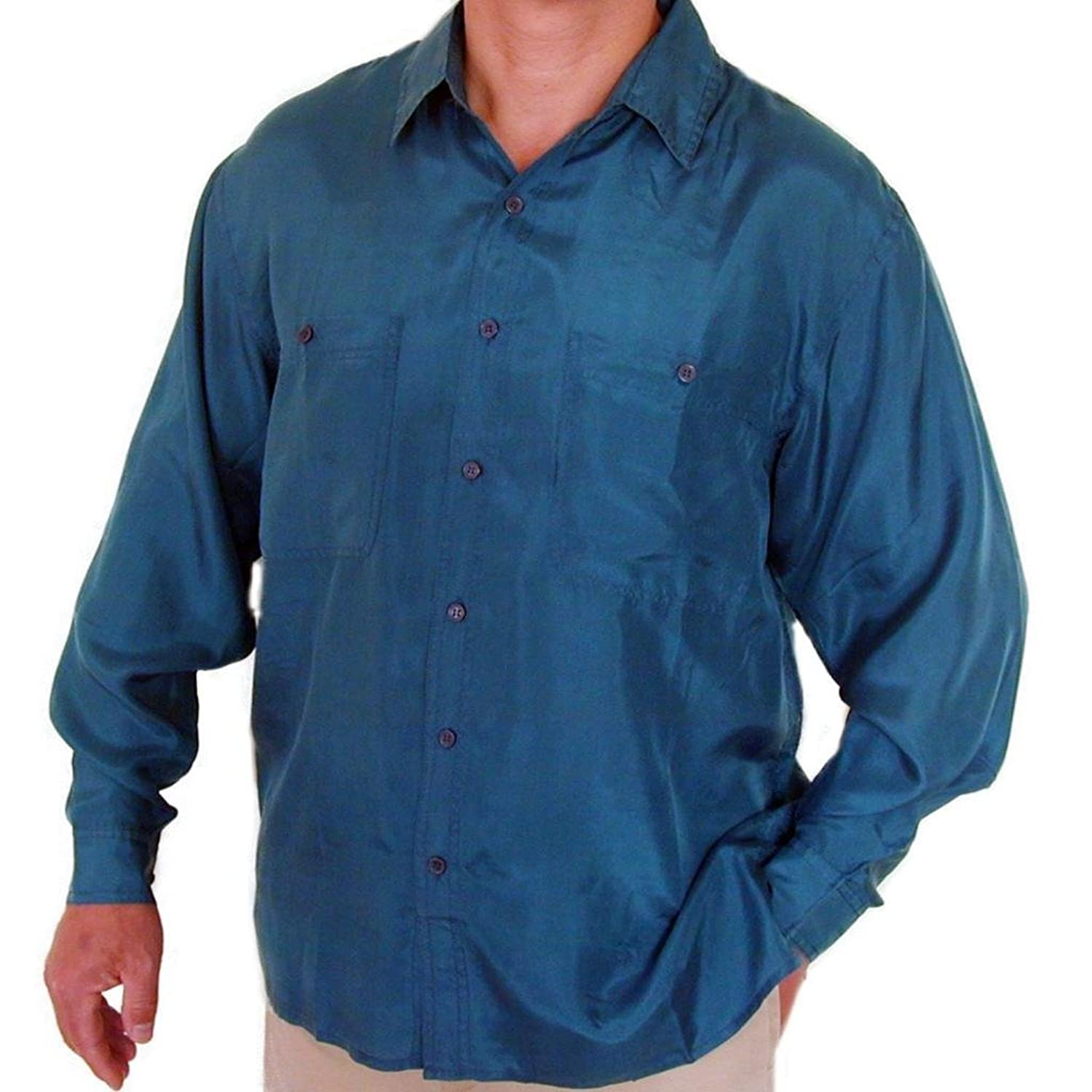 Collection silk shirt men pictures best fashion trends for Mens silk shirts amazon