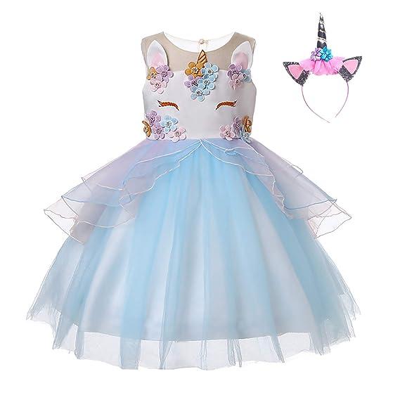 79f2405f2b765 UrbanDesign Robe de Princesse Licorne Déguisement Unicorne pour Petite Fille   Amazon.fr  Vêtements et accessoires