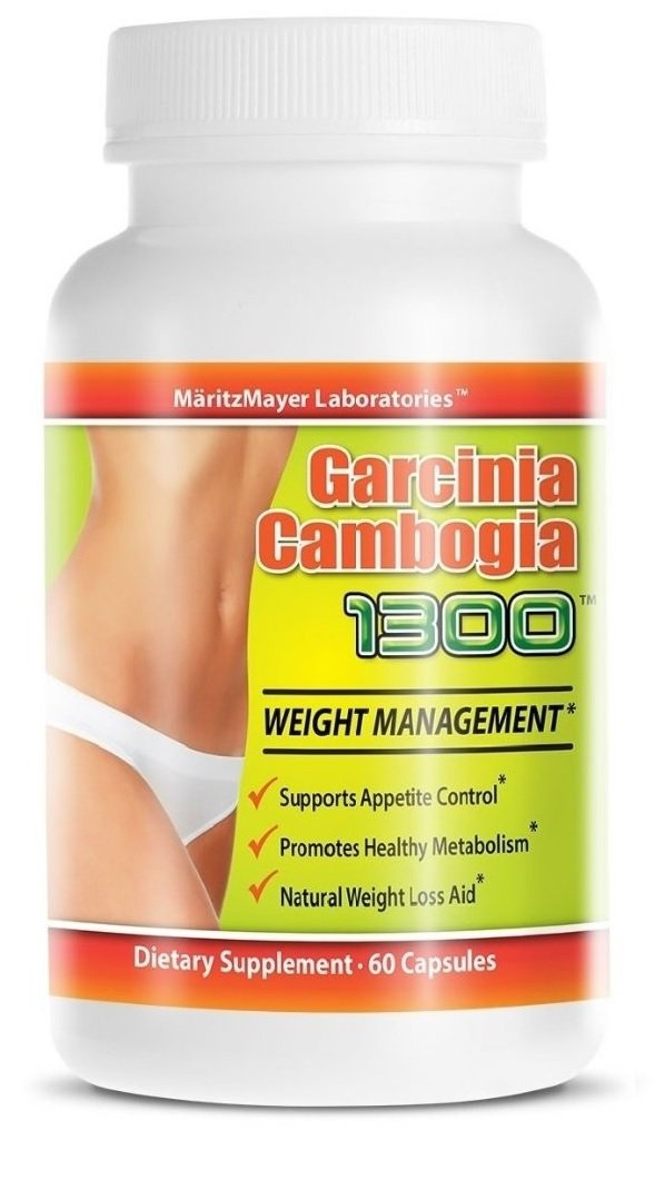 Garcinia Cambogia Extract 1300 60% HCA Weight Management Appetite Suppressant 60 Capsules Per Bottle 100 Bottles