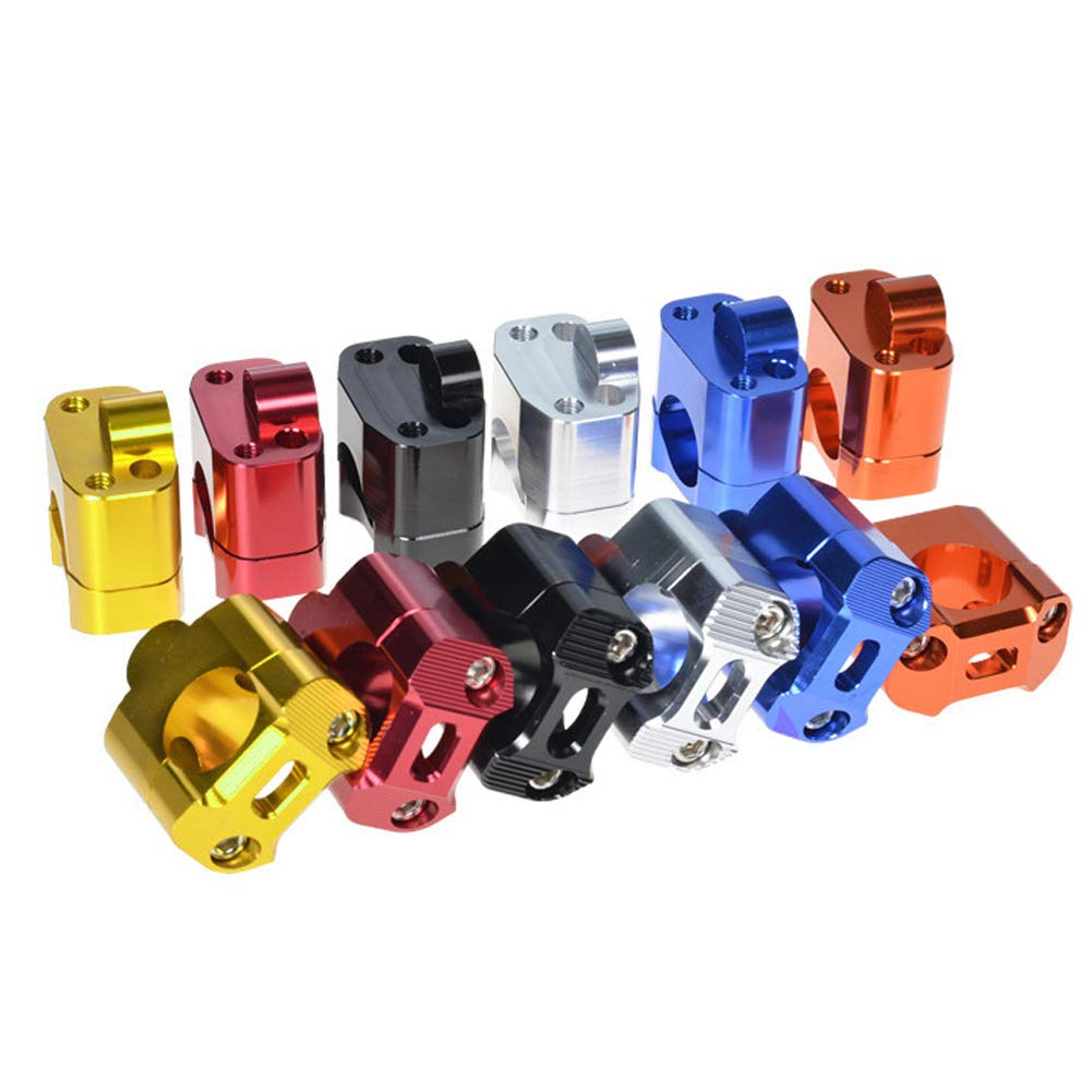 Schwarz Orange f/ür Motorrad-Lenkerklammern Adapter f/ür BWS MSX-125 YSHtanj Externe modifizierte Lenkerklemme 1 Paar 28 mm