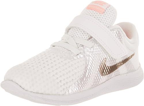 Nike Scarpe Sportive Bambina Revolution 4 TD Tela Bianco e  KfPymV