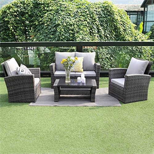 patio, lawn, garden, patio furniture, accessories, patio furniture sets,  conversation sets 2 on sale Wisteria Lane 5 Piece Outdoor Patio Furniture Sets deals
