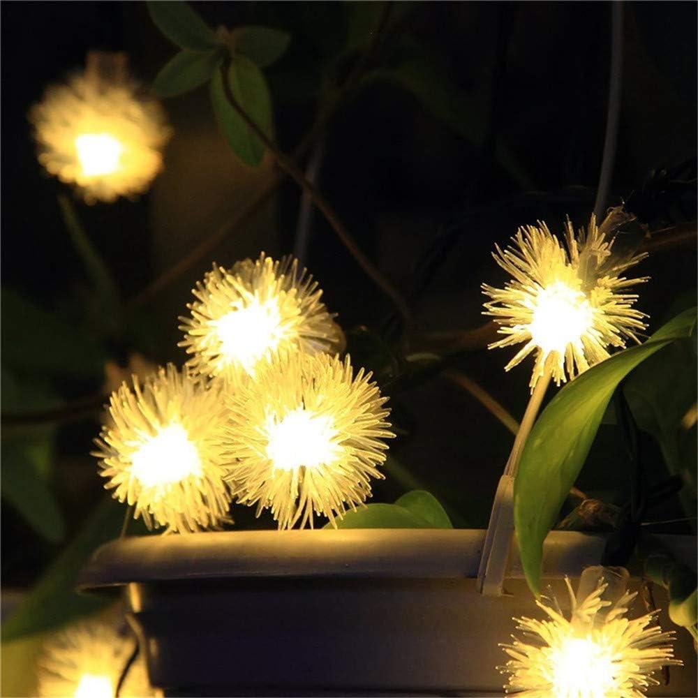 padom Warmwhite 4m 20 Fuzzy Ball LED Solar String Lights Waterproof Solar Fairy Light Solar Power Light for Outdoor Holiday Home Christmas Garland Decor