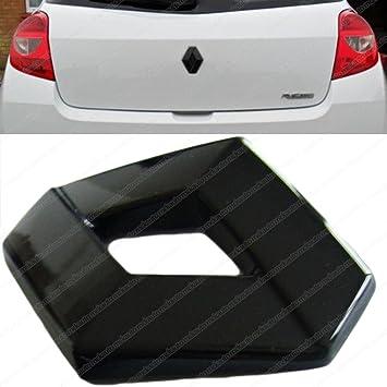 MCK Auto Logo brillante para maletero de Renault Clio, color negro: Amazon.es: Coche y moto