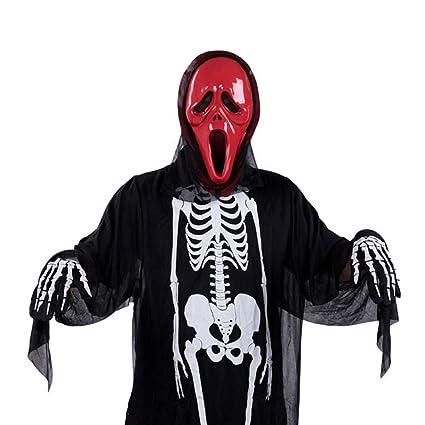 Mascara Halloween Hombre, Zolimx Miedo Cráneo Esqueleto Ropa Fantasma + Cráneo Diablo Máscara Cosplay Disfraz