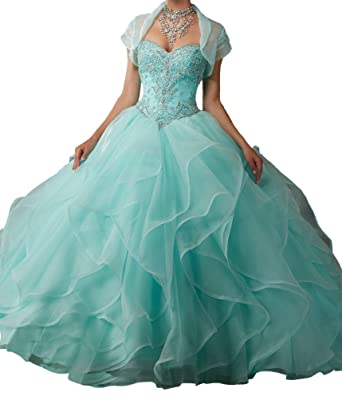 ed1e4427ca DengFeng Women s Sweetheart With Jacket Beads Sweet 16 Quinceanera Dresses  0 US Mint