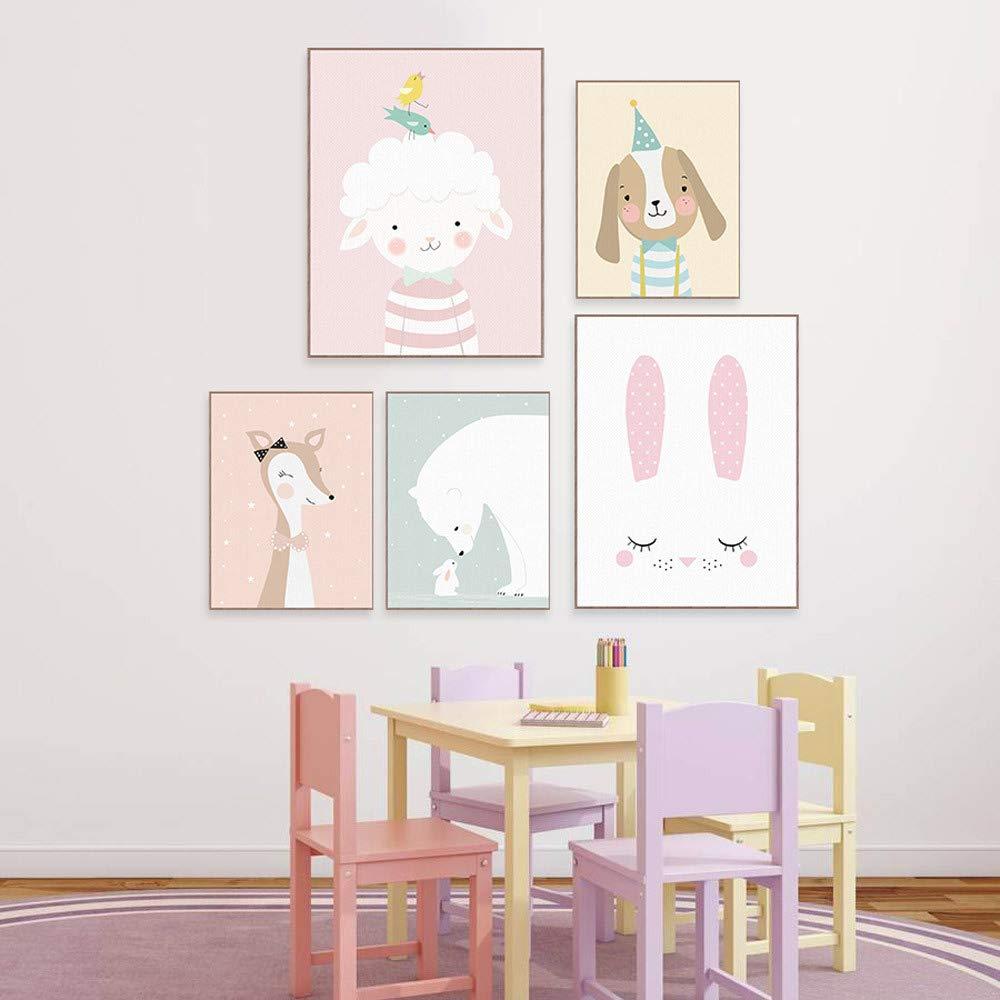 4er Set Kinderzimmer Babyzimmer Poster Bilder Din A4 M A Dchen