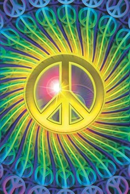Amazon Com Blackball Mo Peace Psychedelic Peace Sign Art Print