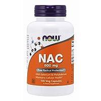 NOW Supplements, NAC (N-Acetyl Cysteine)600 mg with Selenium & Molybdenum, 100 Veg...