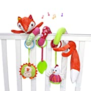 Andison Baby Plush Spiral Activity Toy Crib Stroller Car Seat Travel Toy with Ringing Bell (Fox)
