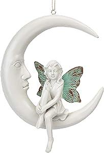 Secret Fairy Garden Hanging on the Moon Garden Statue Ornament