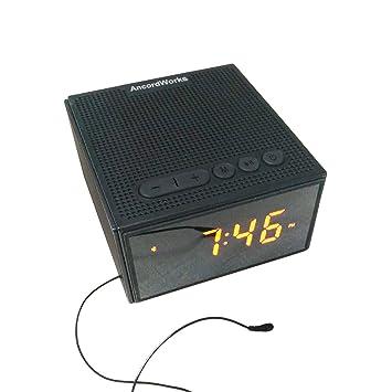 Resistente al agua Radio altavoz con reloj alarma por ...