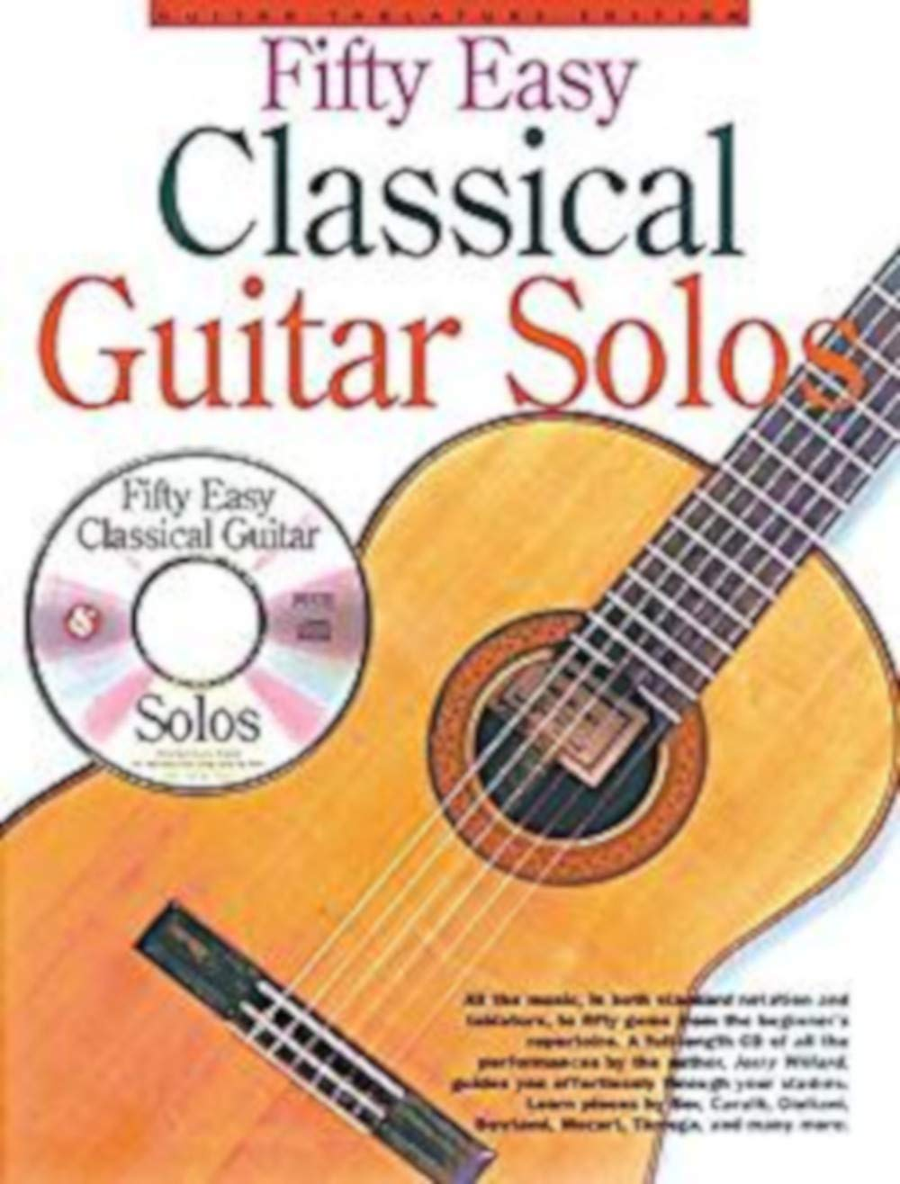 Fifty Easy Classical Guitar Solos. Partitions, CD pour Tablature ...