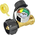 Generep Upgraded Propane Gauge,Level Indicator Propane Cylinder Gauges 3 Colors Coded