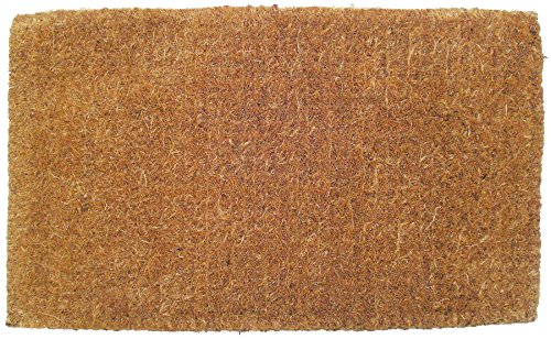 Entryways Blank Hand Woven Extra Thick Coir Doormat, 18 by 30-Inch (Rattan Rugs)