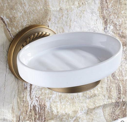 Retro Badezimmer Antike Messing Wandhalterung Keramik Seifenschale