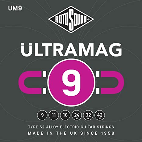 Cuerdas para guitarra eléctrica Rotosound UM9 Ultramag 9-42 ...