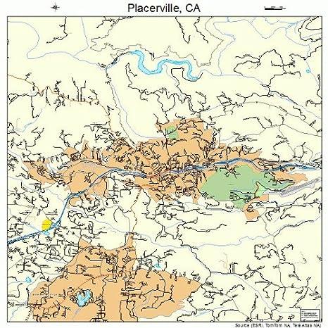 Placerville California Map.Amazon Com Large Street Road Map Of Placerville California Ca