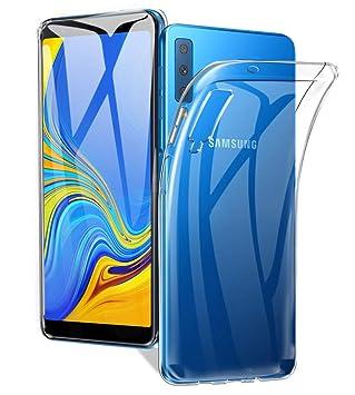 Funda Samsung Galaxy A7 2018, Carcasa Samsung Galaxy A7 2018, AVIDET Ultra Delgado Case Anti-rasguños Silicona TPU Cover Protectora Caso para Samsung ...