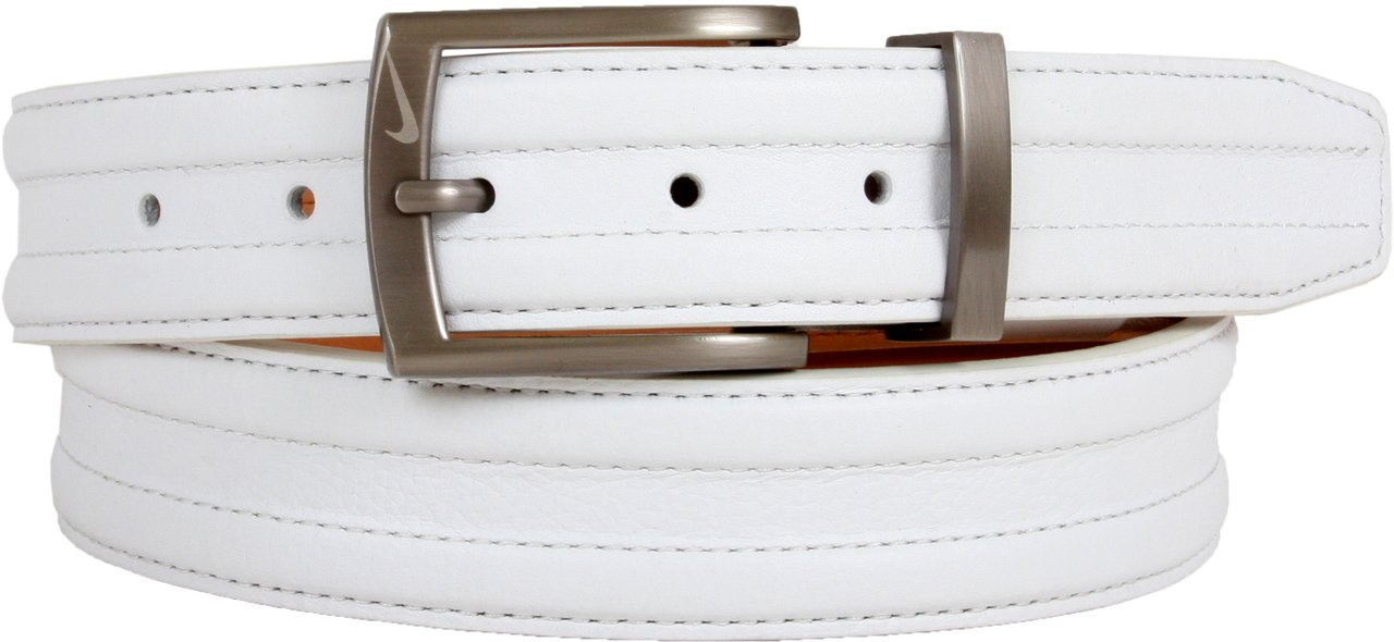 Nike Basic Tripunto G-Flex Belt (White, 40)