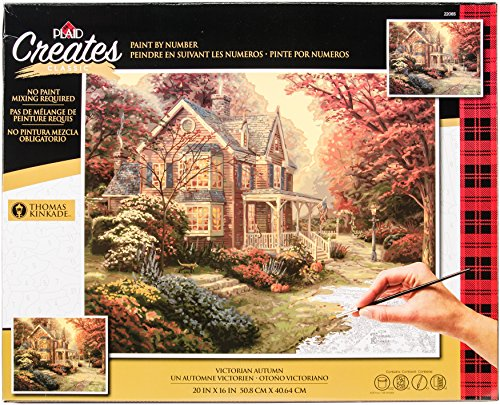 Plaid Creates Paint by Number Kit (16 by 20-Inch), 22085 Victorian Autumn - $25.99