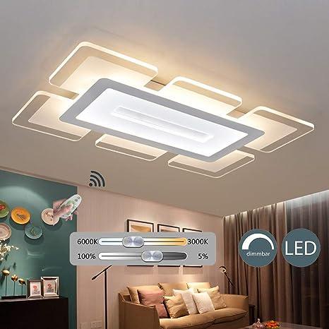 KBEST Lámpara de Techo LED Control Remoto Regulable 100W ...