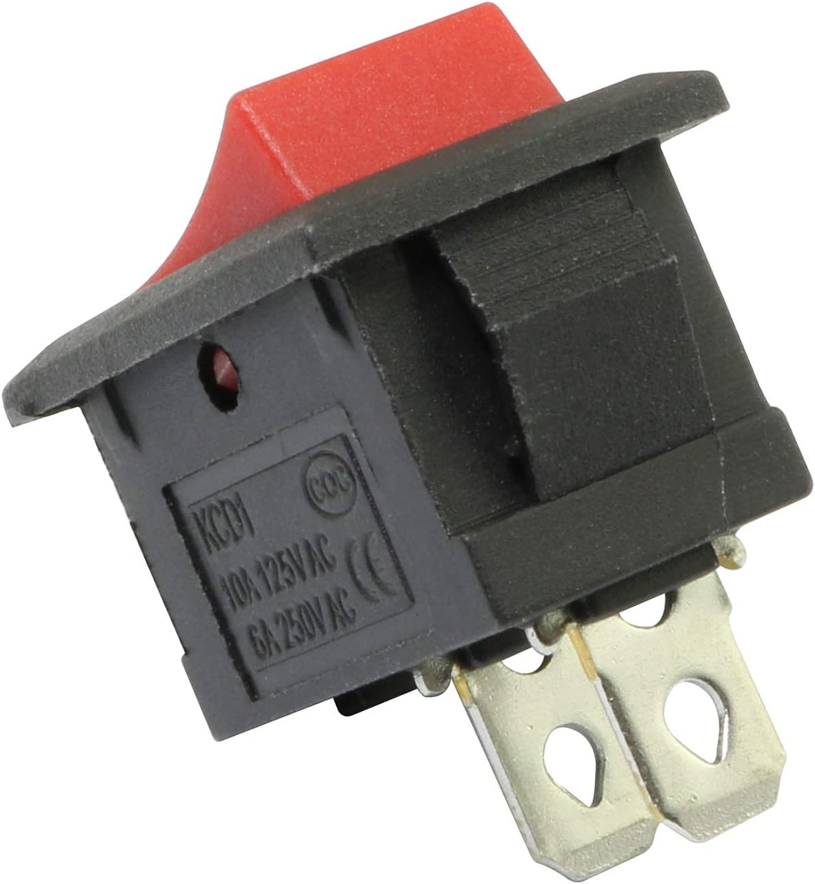 RuiLing 20pcs 2 Pin 2 Position Boat Rocker Switch ON//Off Power Switches 6A 250V AC Black Button