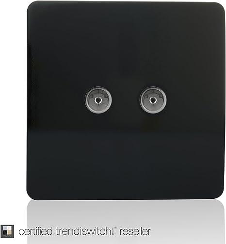 Prise t/él/éphonique Argent Art-tlp Tvsi Trendi /Étendoir Artistique Moderne Brillant Tactile Prise coaxiale TV