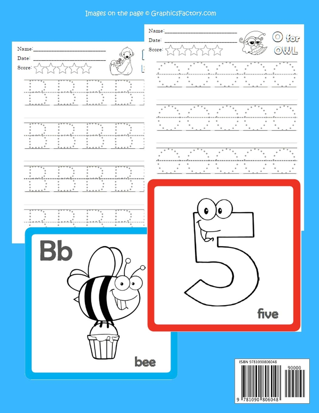 preschoolers and kindergarten trace Age 2-5 toddlers Practice handwriting plus fun ABCs flash cards games ABC Numbers Tracing Books with Flashcards for Toddlers: Lets kids learn to read write and color alphabets and numbers worksheets for babies
